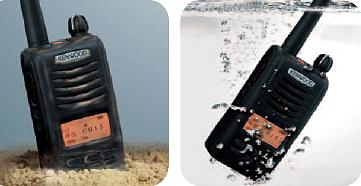 ケンウッドハイパワートランシーバーTPZ-D503防水・防塵性能イメージ